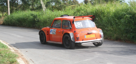 Rally Car on the Course in St. John, Barbados Pocket Guide