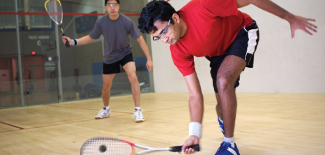 Two Men Playing Squash