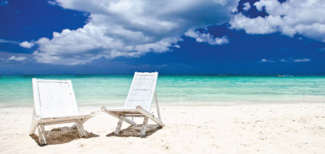 Beach Chairs on the Beach, Barbados Pocket Guide