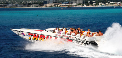 Seafari Thriller Boat on Tour, Barbados Pocket Guide